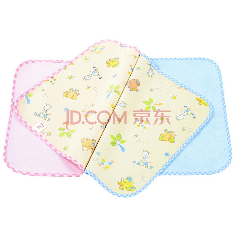象宝宝(elepbaby)婴幼儿尿垫 竹纤维三层加厚防水隔尿垫大号100X60CM(蓝色1条装)